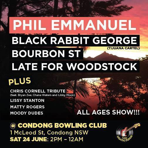 Late For Woodstock & Bourbon Street at Condong Bowls Club